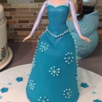 Princess Elsa Doll Cake