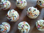 Mini Sprinkled Cupcakes