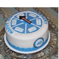 Game Wheel Cake
