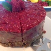Raw Vegan Banana Raspberry Swirl Cake