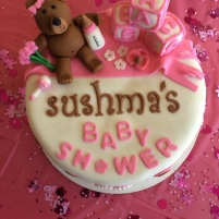 Pretty Pink Baby Shower Cake