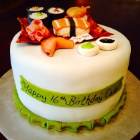 Sushi/Asian Themed Cake