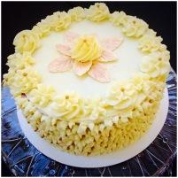Gold & White Red Velvet Cake w/ Cream Cheese Frosting (Cake 4 Kids Contest {2015})