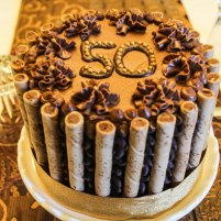 50th Chocolate Coffee Birthday Cake