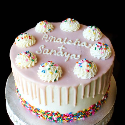 Sprinkles & Pink Ganache Cake